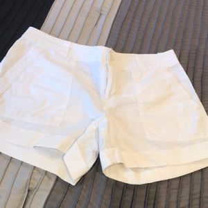 Banana Republic white linen shorts